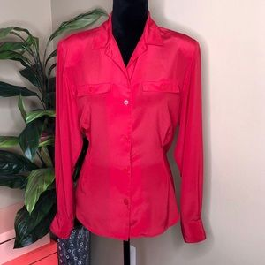 EUC Christian Dior Red Button Down